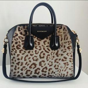 Givenchy Antigona Medium Leopard Black